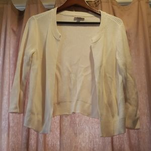 LOFT Outlet Cream Open Cardigan/Shrug Size M